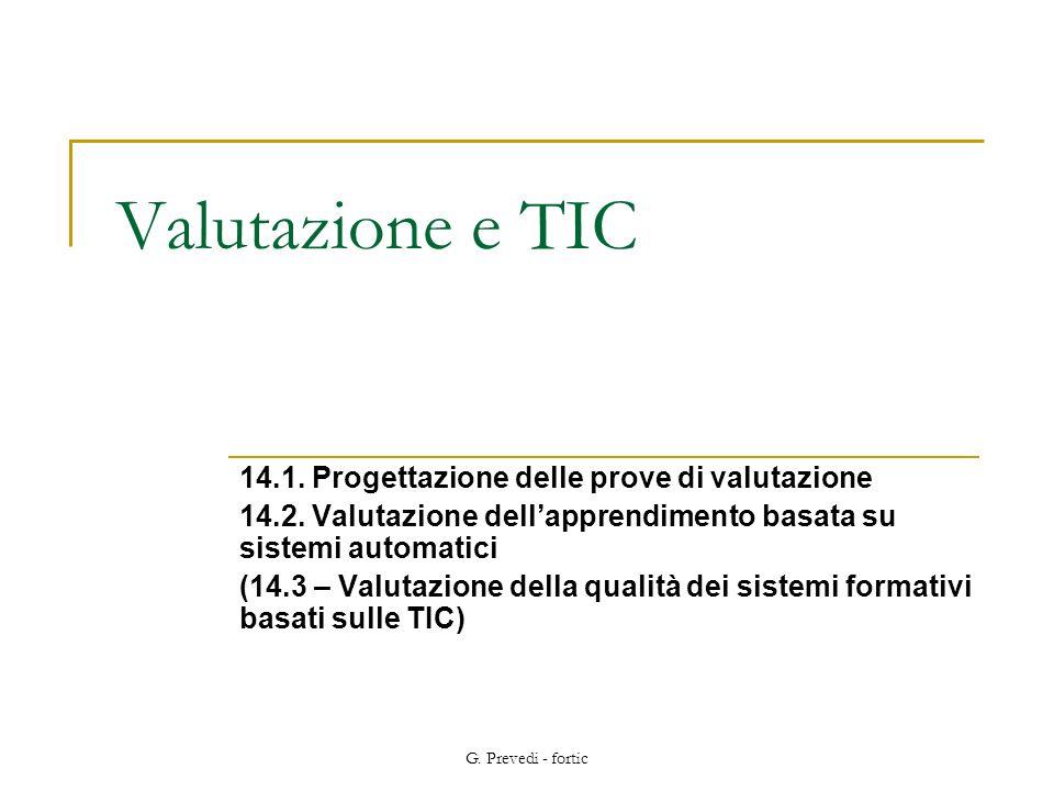 Valutazione e TIC 14.1. Progettazione delle prove di valutazione