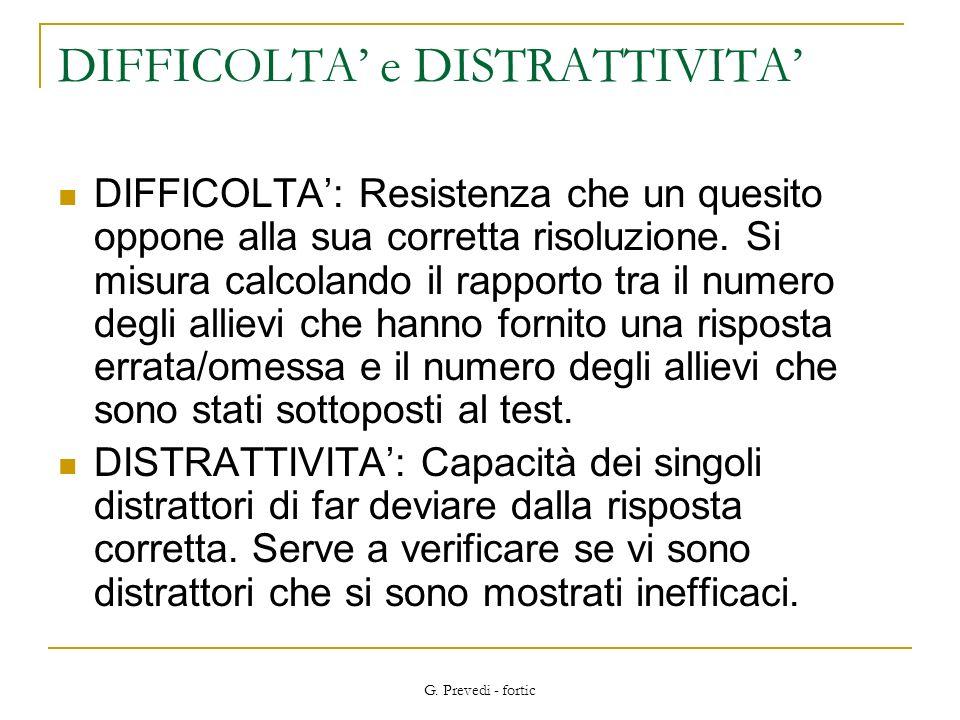 DIFFICOLTA' e DISTRATTIVITA'