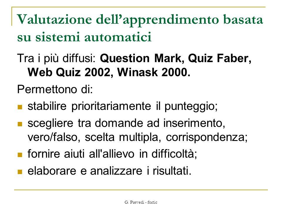 Valutazione dell'apprendimento basata su sistemi automatici