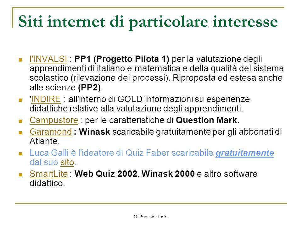 Siti internet di particolare interesse