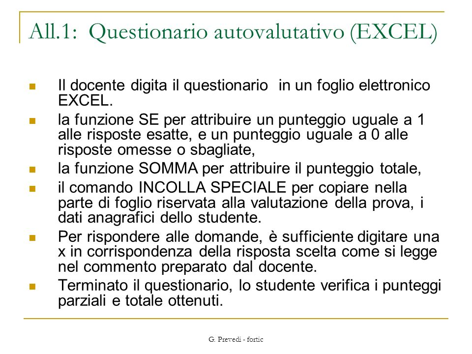 All.1: Questionario autovalutativo (EXCEL)