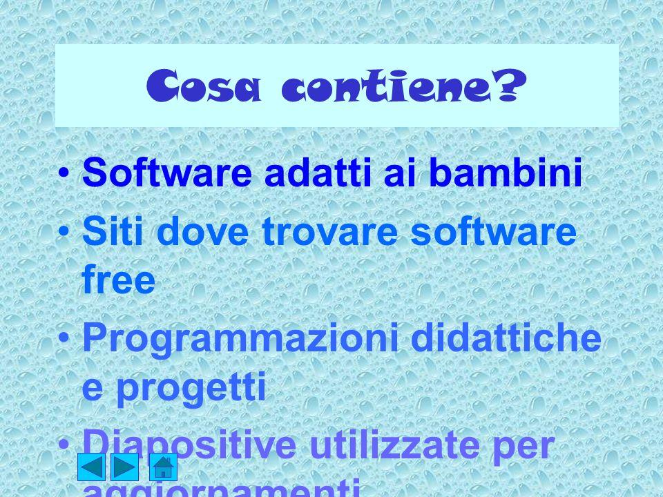 Cosa contiene Software adatti ai bambini