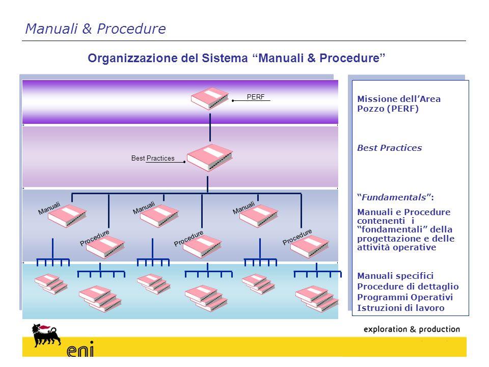 Organizzazione del Sistema Manuali & Procedure