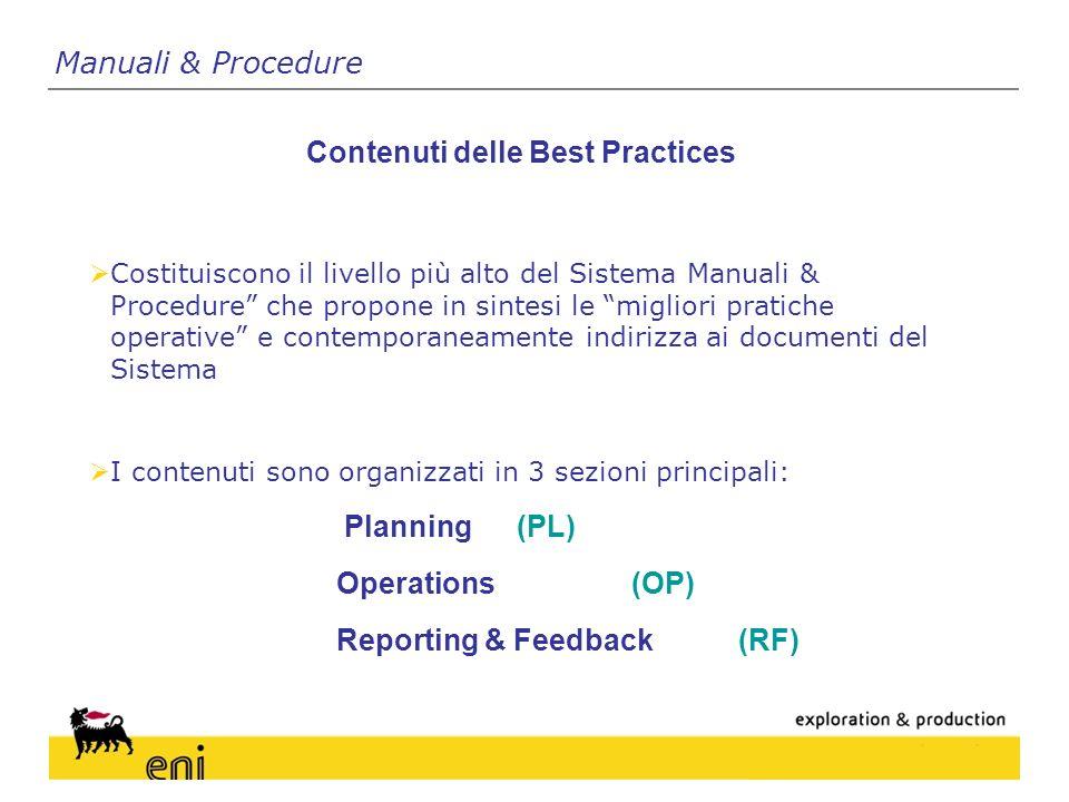 Contenuti delle Best Practices