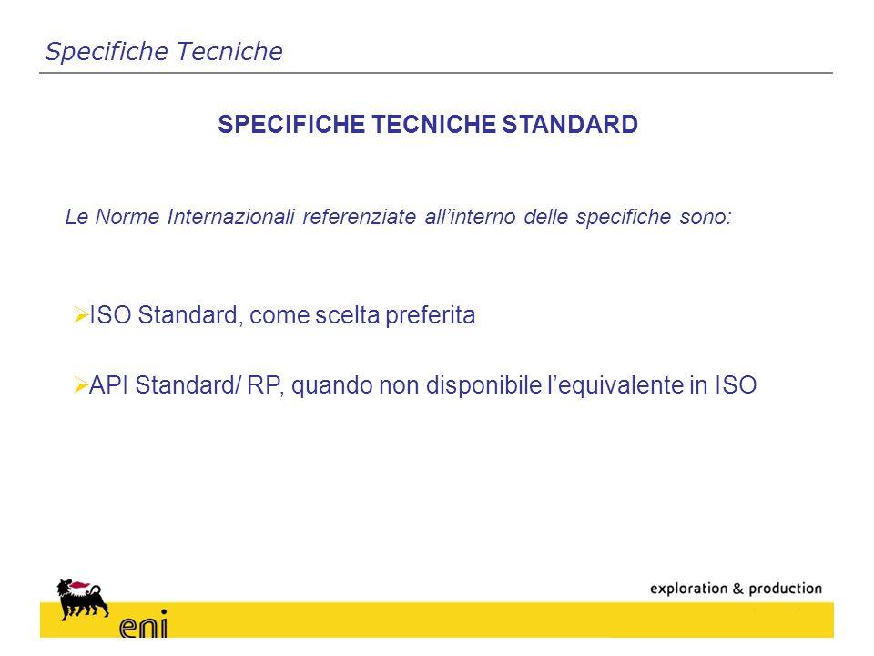 SPECIFICHE TECNICHE STANDARD