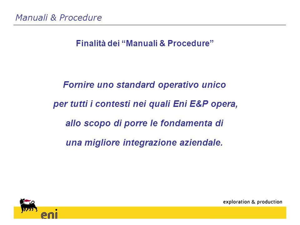 Fornire uno standard operativo unico