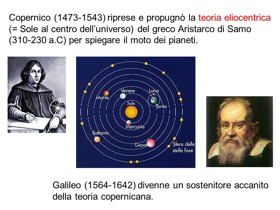 Copernico (1473-1543) riprese e propugnò la teoria eliocentrica