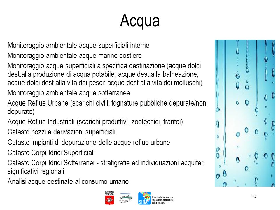 Acqua Monitoraggio ambientale acque superficiali interne