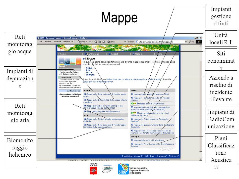 Mappe Impianti gestione rifiuti Unità locali R.I.