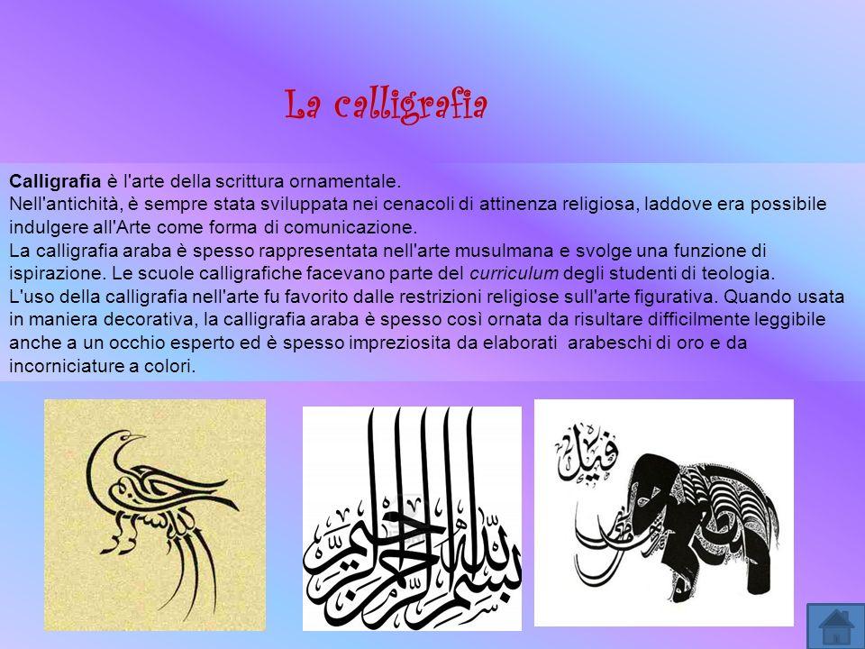 La calligrafia Calligrafia è l arte della scrittura ornamentale.