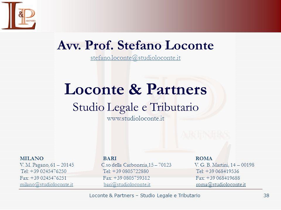 Avv. Prof. Stefano Loconte