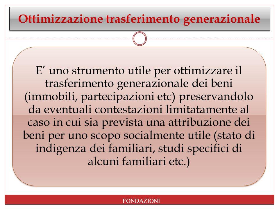 Ottimizzazione trasferimento generazionale