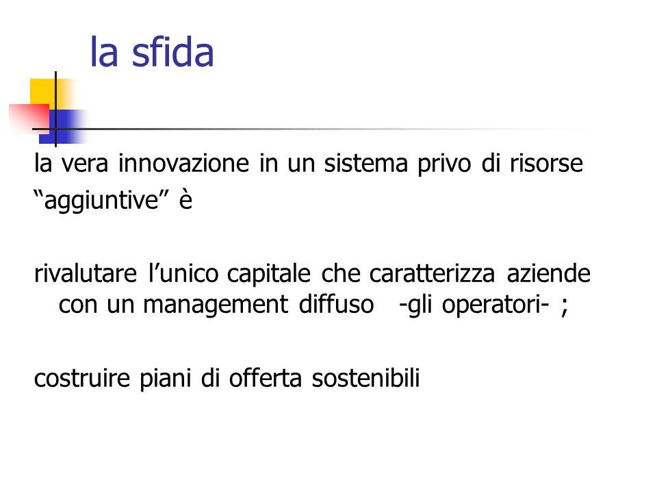 la sfida la vera innovazione in un sistema privo di risorse
