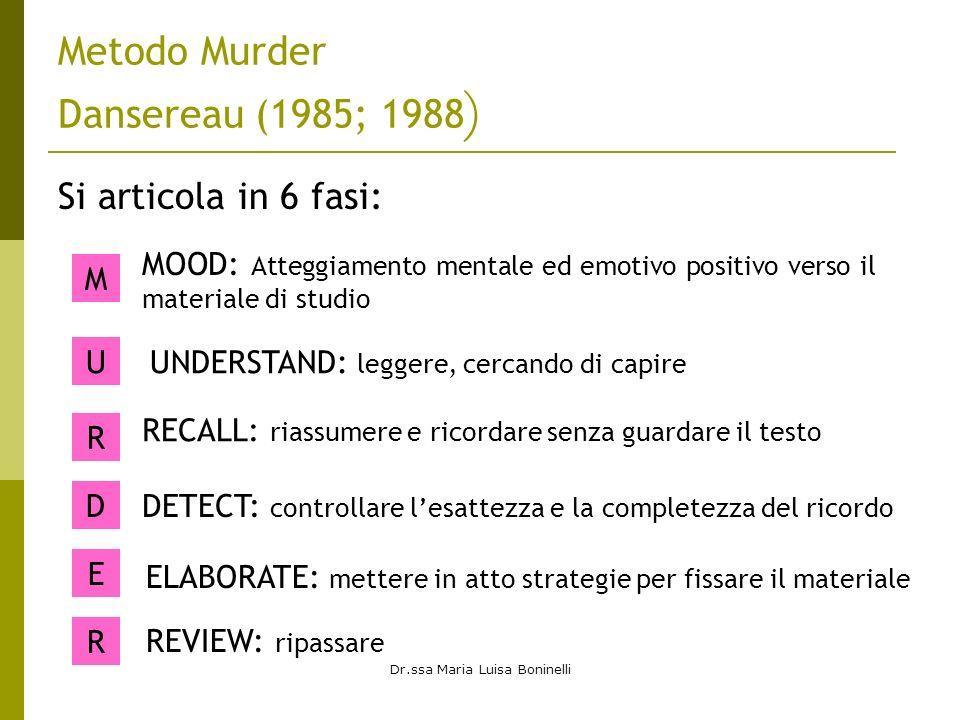 Metodo Murder Dansereau (1985; 1988)