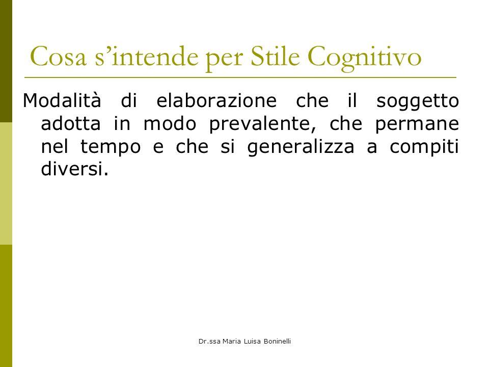 Cosa s'intende per Stile Cognitivo