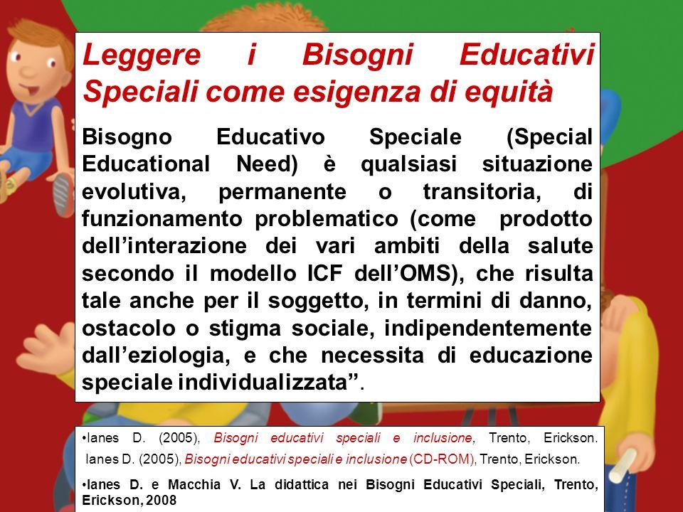 Leggere i Bisogni Educativi Speciali come esigenza di equità