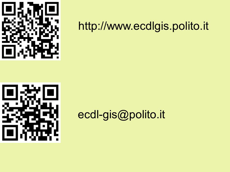 http://www.ecdlgis.polito.it ecdl-gis@polito.it