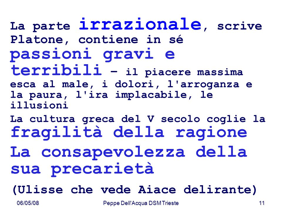 Peppe Dell Acqua DSM Trieste