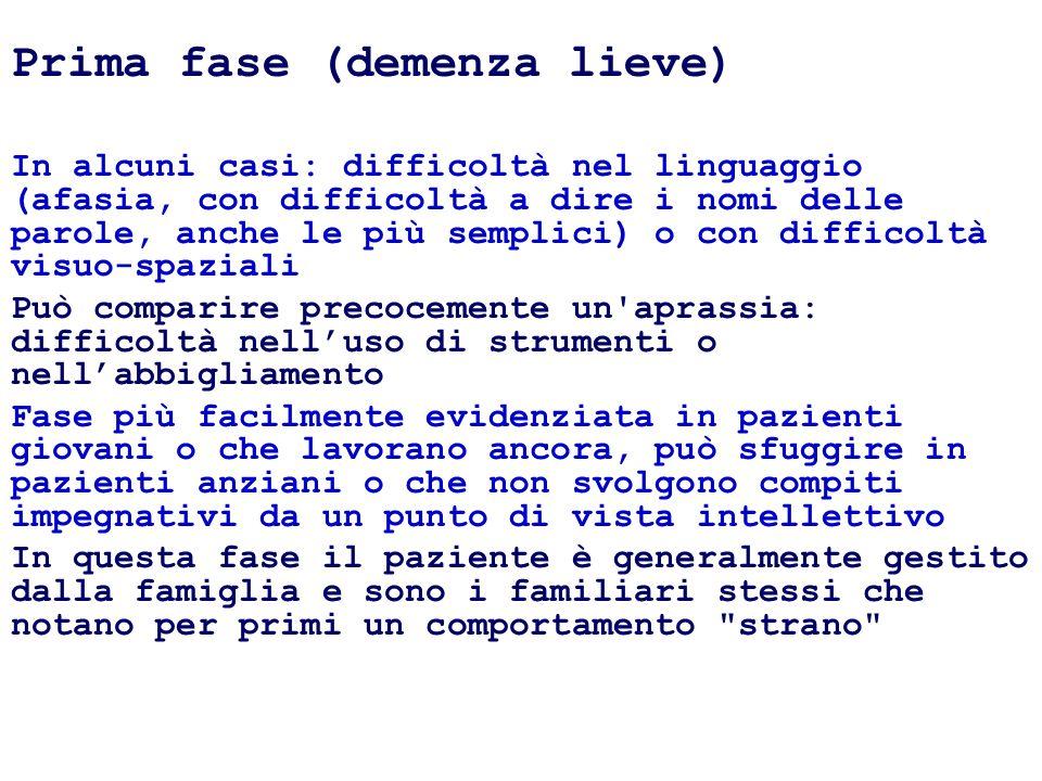 Prima fase (demenza lieve)