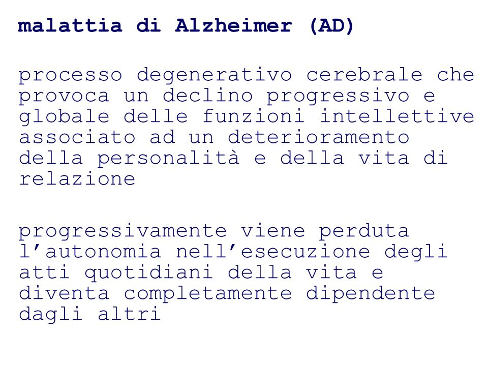 malattia di Alzheimer (AD)
