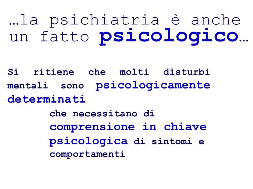…la psichiatria è anche un fatto psicologico…