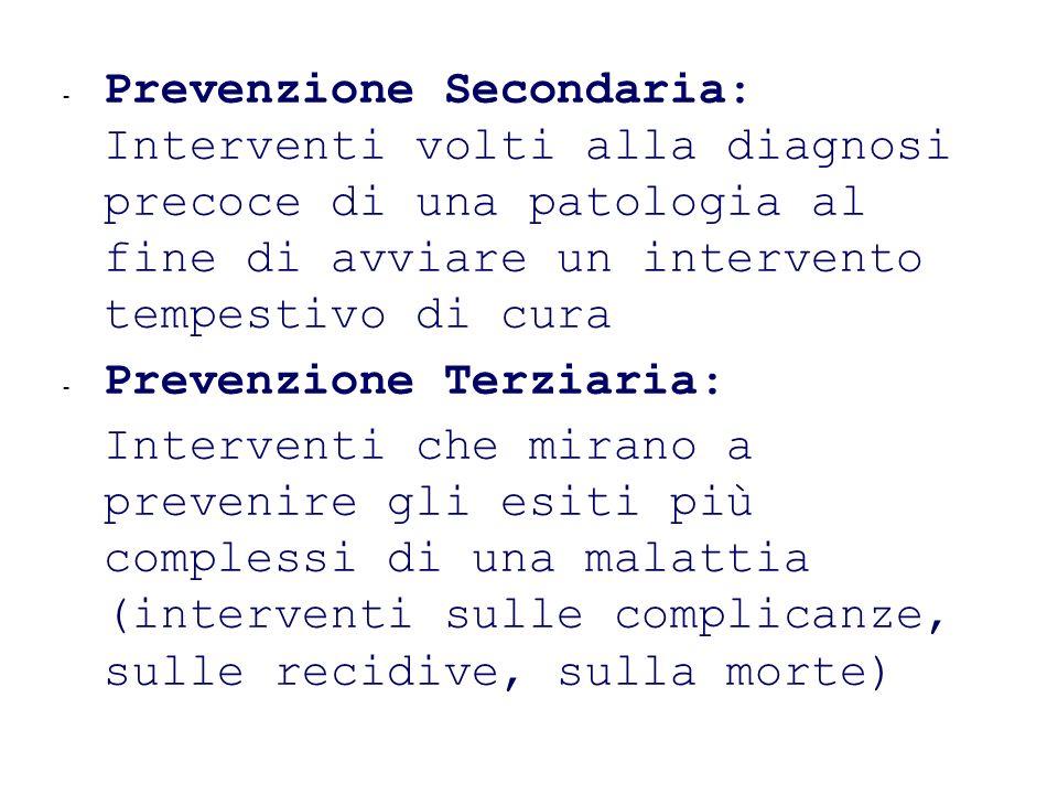 Prevenzione Terziaria: