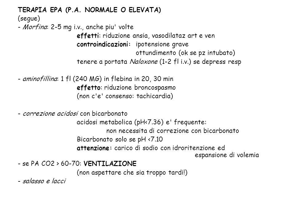TERAPIA EPA (P.A. NORMALE O ELEVATA)