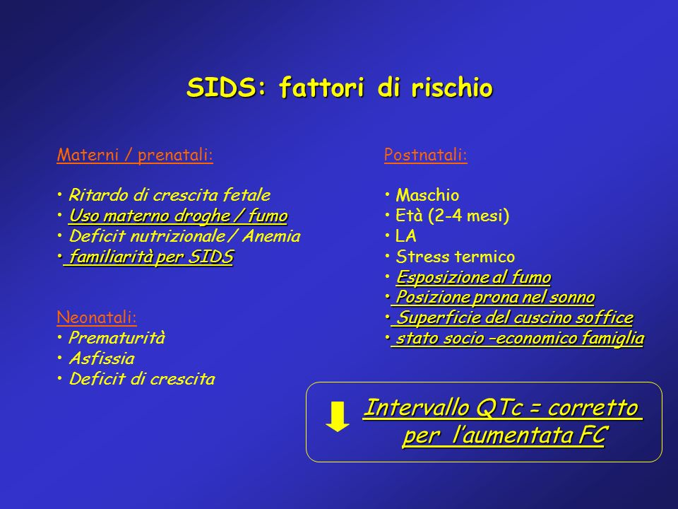 SIDS: fattori di rischio