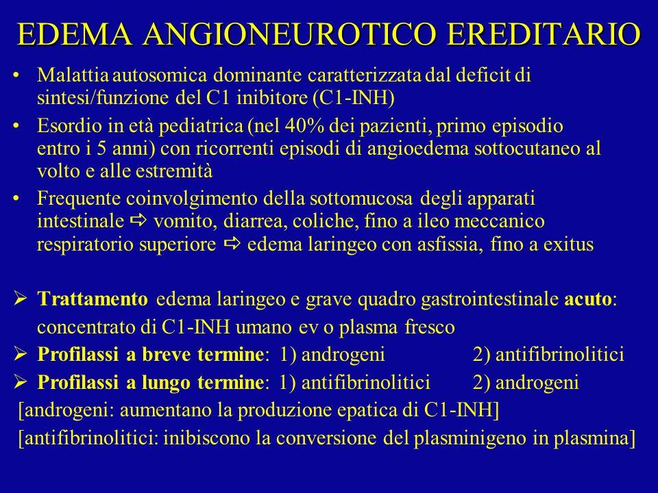 EDEMA ANGIONEUROTICO EREDITARIO