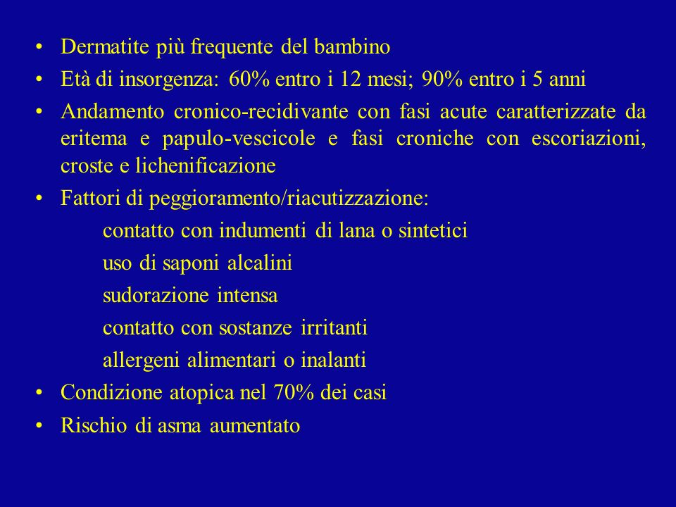 Dermatite più frequente del bambino