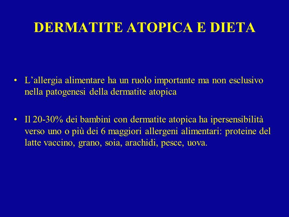DERMATITE ATOPICA E DIETA