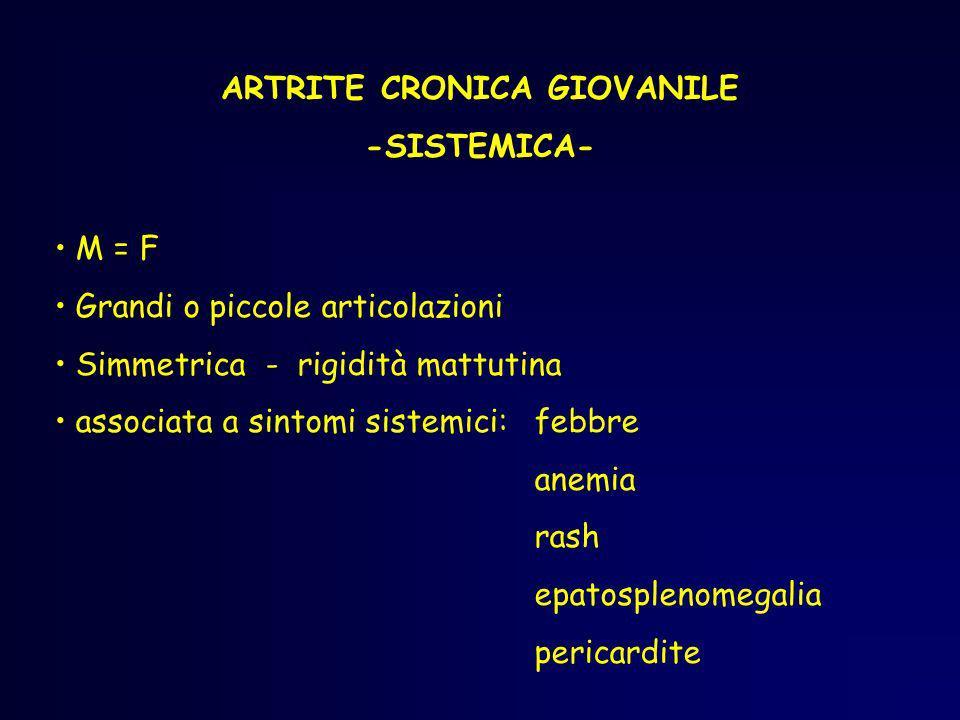 ARTRITE CRONICA GIOVANILE