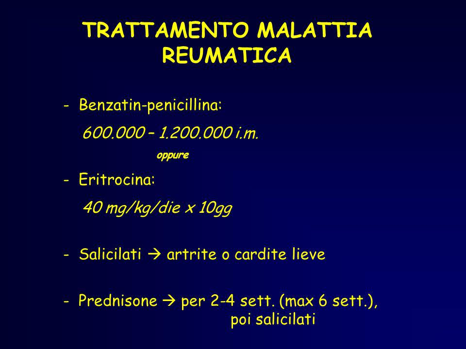 TRATTAMENTO MALATTIA REUMATICA