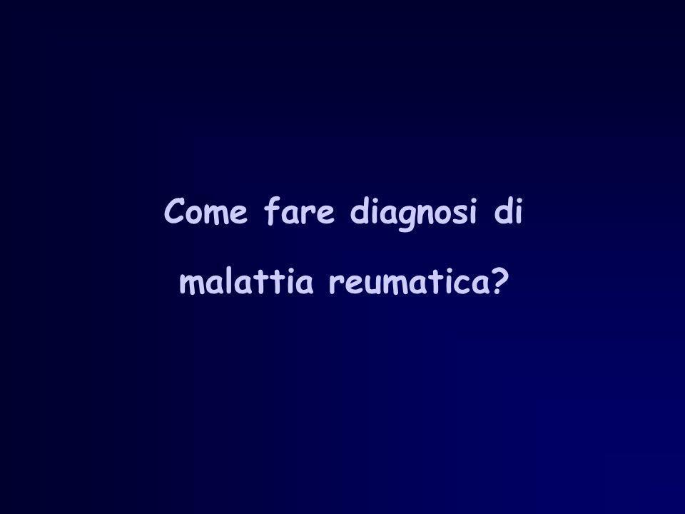 Come fare diagnosi di malattia reumatica