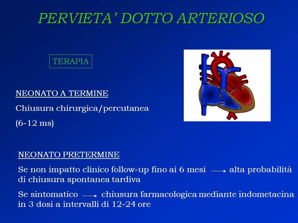PERVIETA' DOTTO ARTERIOSO