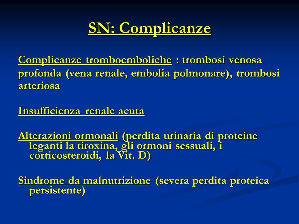 SN: Complicanze Complicanze tromboemboliche : trombosi venosa