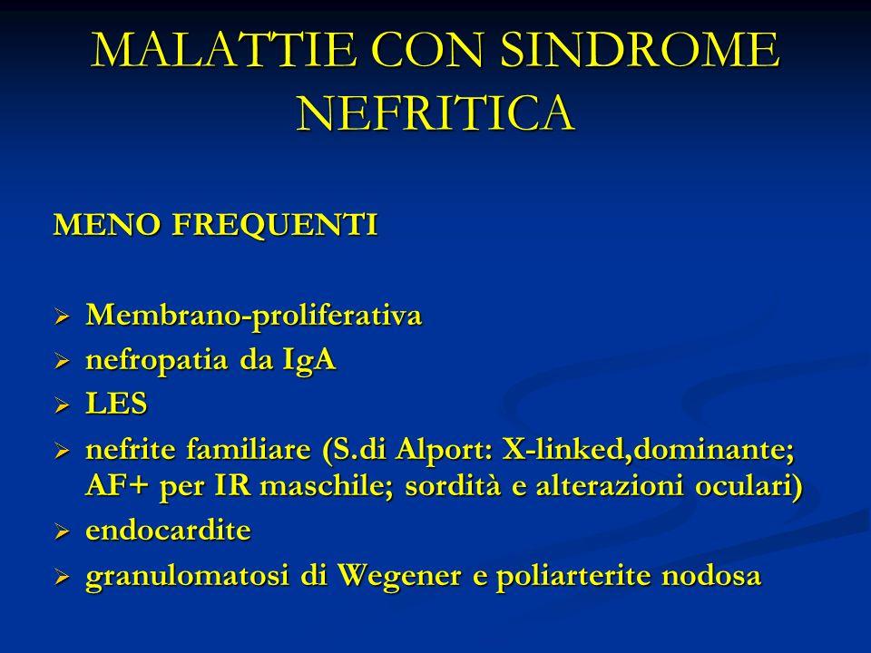 MALATTIE CON SINDROME NEFRITICA