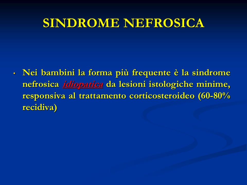 SINDROME NEFROSICA