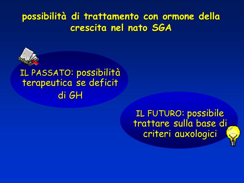 possibilità di trattamento con ormone della crescita nel nato SGA