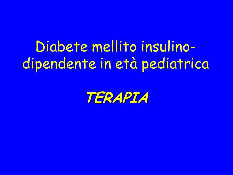Diabete mellito insulino- dipendente in età pediatrica TERAPIA