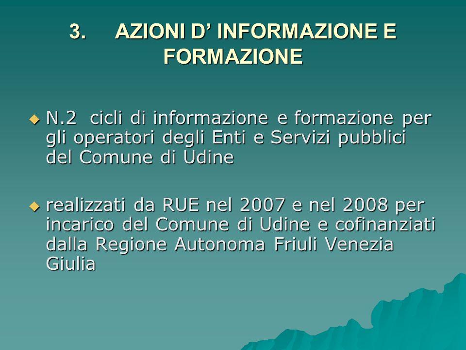 3. AZIONI D' INFORMAZIONE E FORMAZIONE