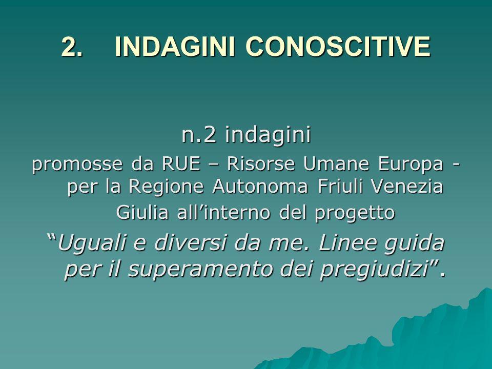 2. INDAGINI CONOSCITIVE n.2 indagini