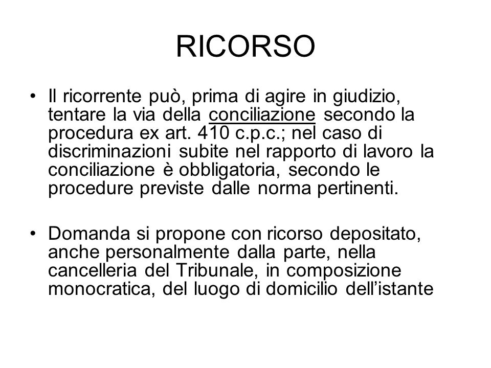 RICORSO