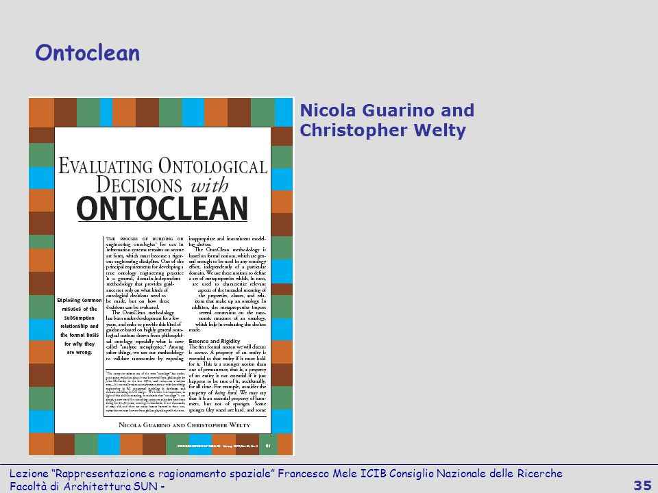 Ontoclean Nicola Guarino and Christopher Welty