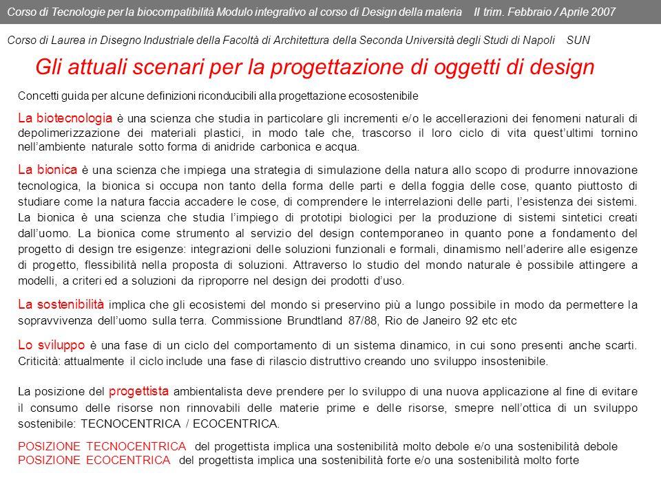 Gli attuali scenari per la progettazione di oggetti di design
