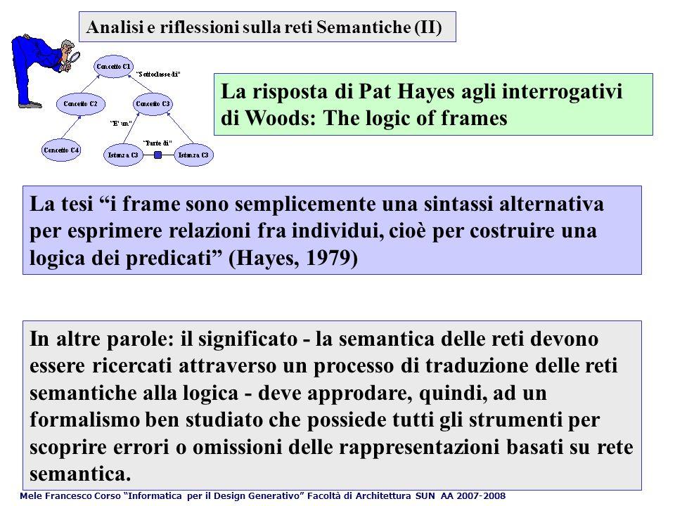 Analisi e riflessioni sulla reti Semantiche (II)
