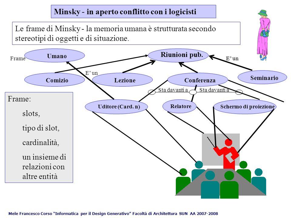 Minsky - in aperto conflitto con i logicisti