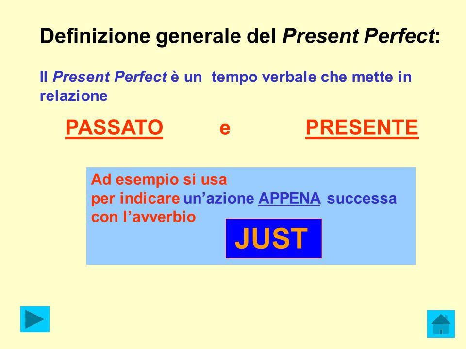 Definizione generale del Present Perfect: