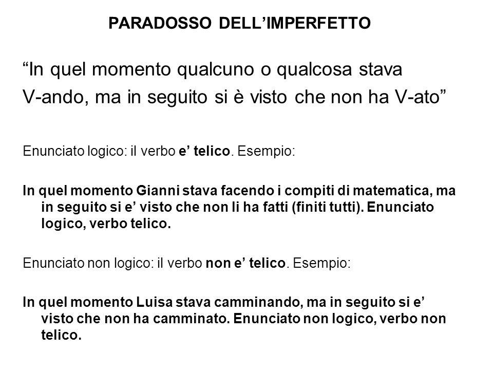 PARADOSSO DELL'IMPERFETTO