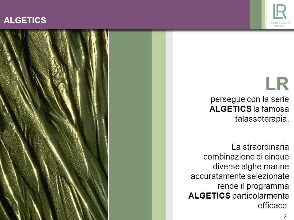 LR persegue con la serie ALGETICS la famosa talassoterapia.